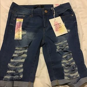 Jean shorts - junior size Large